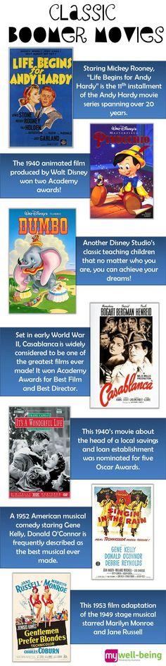 Check out these classic boomer movies from the 1940s to 1960s!