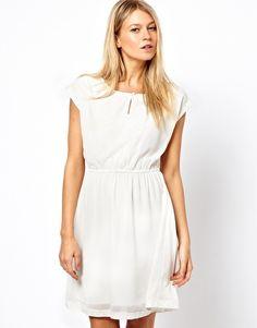 Vila Embellished Front Mini Dress