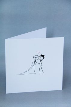 Stickman Wedding Card | Congratulations Card | You May Now Kiss the Bride Wedding Congratulations Card, Hand Drawn Cards, Stick Art, Christian Cards, Engagement Cards, Button Art, Greeting Cards Handmade, Diy Cards, Homemade Cards