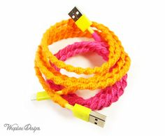 Choose Your Own Colors - Wrapped Iphone / Ipod / Ipad Lightning To USB 8 Pin Charger Sync Cable 'Peek-A-Boo' By Wrapture Designs $26+