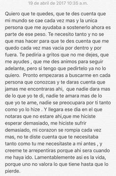 Te necesito...