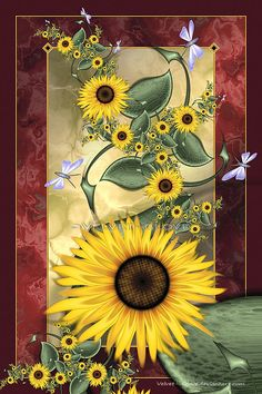 August Sunflowers by =Velvet--Glove on deviantART