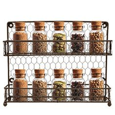 Sorbus Spice Rack Multi-Purpose Organizer- 2 Tier Wall Mount or Counter Top Display Storage Spice Rack - Add some spice to your kitchen! Keep your cookbook close and your seasonings closer because meal preparation only gets easier with the Sorbus® Spice Rack organizer. The stylish 2 tier rack is an essential for any kitchen or organizational space. The unique multi-purpose design also accommodates m...