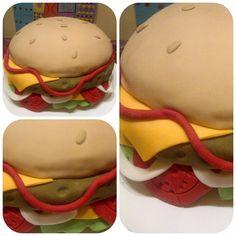 Varias tomas Hamburger, Ethnic Recipes, Food, Hamburgers, Food Cakes, Meals, Yemek, Burgers, Loose Meat Sandwiches