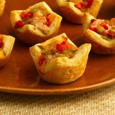 Get a blast of flavor when you nest bean dip, green chiles and cheese in a tiny pastry cup.
