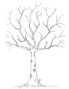 Va sempre più di moda questa idea di stampare l'immagine di un albero spoglio e far lasciare l'impronta…
