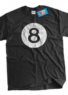 Funny 8 Ball Tshirt Magic Eight Ball Billiards by IceCreamTees 5f28926aa37
