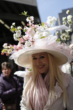 Creative millinery at New York's Easter Parade and Bonnet Festival.