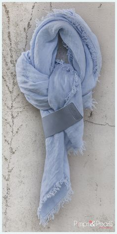 dress2kill summer scarf wrap xl pure linen chambre blue by pimpspearls dutch design www