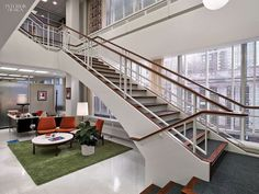 Sterling Cooper & Partners Staircase: behing-the-scenes photos reveal the secrets of Mad Men sets