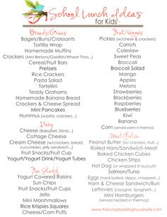 School Lunch Ideas for Kids List.pdf - Google Drive