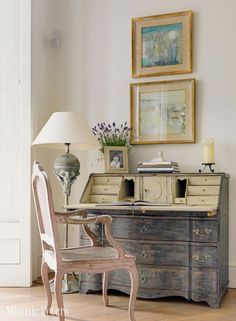 Love this piece. MinniePeters.com - Antique french secretaire