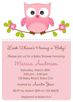 Owl themed baby shower if I ever have a little girl! :)