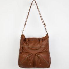 T-Shirt & Jeans Moto Stitch Pocket Tote Bag Cognac One Size For Women 23511340901