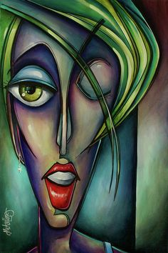 Edgey by Michael Lang - Edgey Painting - Edgey Fine Art Prints and Posters for Sale