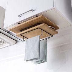 Держатель Kitchen Wrap, Diy Kitchen Storage, Home Decor Kitchen, Diy Storage, Kitchen Tools, Under Cabinet Storage, Small Kitchen Organization, Storage Organization, Kitchen Board