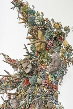 Courtney Mattison hand-builds enormous and intricate ceramic sculptural installations inspired by the fragile beauty of reefs and the human-caused threats they face