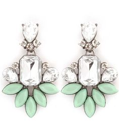 Mint Julep Earrings by Peachy Queen Boutique Pretty, bold earrings. Silver and mint green. $14.00