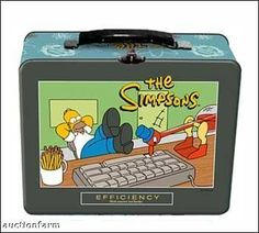 Homer the Simpsons Efficiency Tin Lunch Box @ niftywarehouse.com #NiftyWarehouse #TV #Shows #TheSimpsons #Simpsons