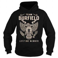 Cool Team BURFIELD Lifetime Member - Last Name, Surname T-Shirt T shirts
