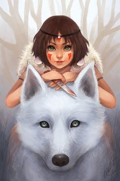 Princess Mononoke so cute