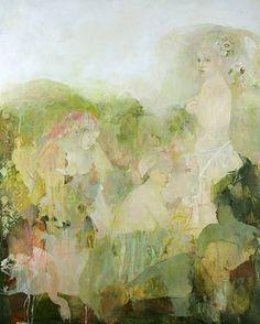 Françoise de Felice (French, born 1952) 'Les Fleurs Jumelles'