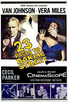 Movie poster | 23 Paces to Baker Street (1956) | Tags: Van Johnson, Vera Miles, CinemaScope, 20th Century-Fox