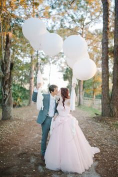 I like big balloons.  Lets get big balloons full of glitter for your shoot and then have them pop and an explosion of glitter?  Or pink confetti!