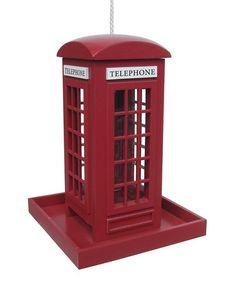 Telephone Booth Bird Feeder