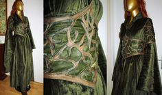 Custom-bilt model of a Tauriel inspired gown. Elven dress, costume made by Volto-Nero.com