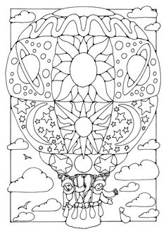 In The Complex Hot Air Balloon Coloring Pages Balloons Often Feature