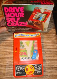Drive Yourself Crazy - one of the first hand held games