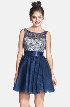 Sean Collection Beaded Bodice Fit & Flare Dress available at #Nordstrom