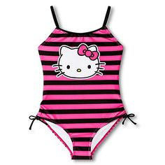 9dfc66bc96c60 Saniro Hello Kitty Girl s One Piece Swimsuit (Large