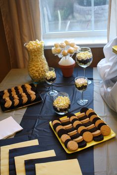 "Guests will surely ""BUZZ"" around this Bee-themed gender reveal party food! 