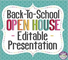 Back To School Night / Meet The Teacher/ Open House Presentation! Editable slides.