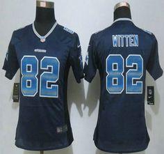 4b2001a55 ... reduced womens dallas cowboys jersey 82 jason witten navy blue strobe  2015 nfl nike fashion jerseys