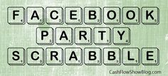 Facebook Scrabble Increases Engagement for virtual parties - LEARN how to make your own Scrabble board!