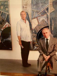 Jasper Johns and Leo Castelli.
