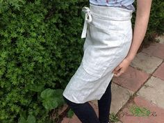 Linen apron for the kitchen Work apron Organic apron Natural