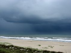 The best. A storm rolling in over the ocean.