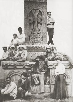 Khatchkar and Armenian painters, 1902...