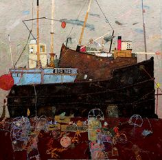 David Smith is a Scottish contemporary landscape artist. David Smith, Art Folder, Seascape Paintings, Whimsical Art, Oeuvre D'art, Collage Art, Painting & Drawing, Costa, Contemporary Art