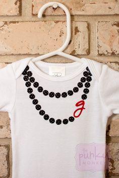 Black Pearls - necklace onesie $32 by ThePunkyMonkey on Etsy