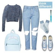 """""""think different"""" by gb041112 ❤ liked on Polyvore featuring Topshop, Hard Candy, Falke and Sugarbaby"""