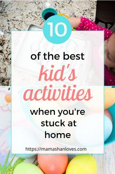 10 of the best kid's activities when you're stuck at home - Mama Shan Loves Home Activities, Indoor Activities, Educational Activities, Toddler Activities, Indoor Games, Summer Activities, Easy Science Experiments, Kids House, Parenting Hacks