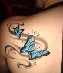 Resultado de imagem para tattoo borboletas 3d