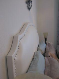Upholstered headboard!