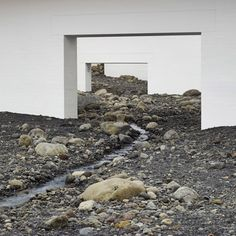 "Olafur Eliasson fills modern art museum<br /> with ""giant landscape"" of rocks"