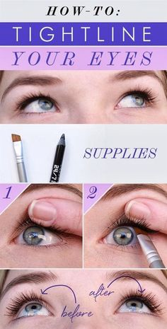 How To: Tightline Your Eyes - Head over to Pampadour.com for other product suggestions! Pampadour.com is a community of beauty bloggers, professionals, brands and beauty enthusiasts! #makeup #howto #tutorial #beauty #lips #lipliner #cosmetics #beautiful #pretty #love #pampadour #tightline